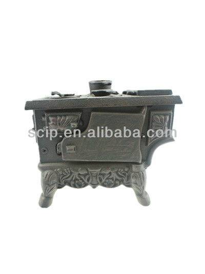 black cast iron toy stove