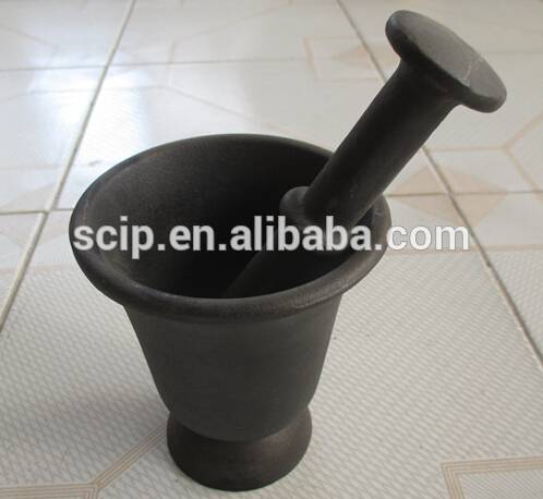 factory supply cast iron mortar and pestle