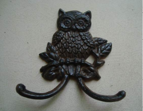 owl look cast iron hanger cast iron hook