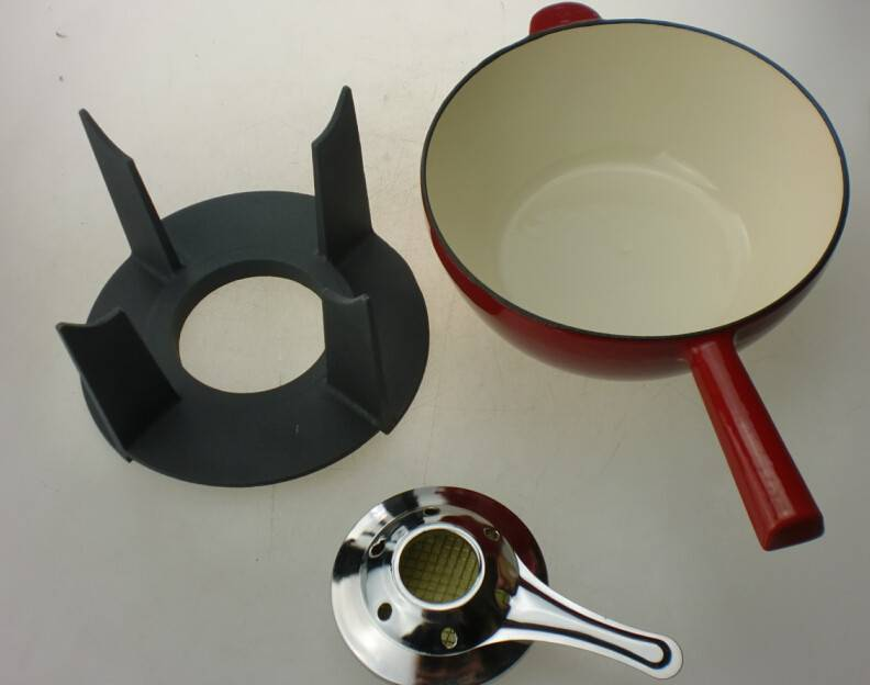 bagong fasion cast iron fondue set