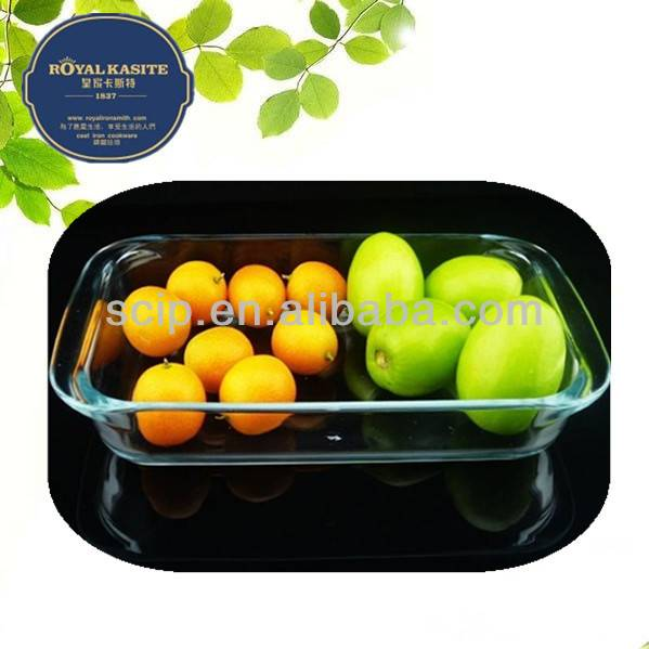 high borosilicate glass baking dish rectagular 1.8L