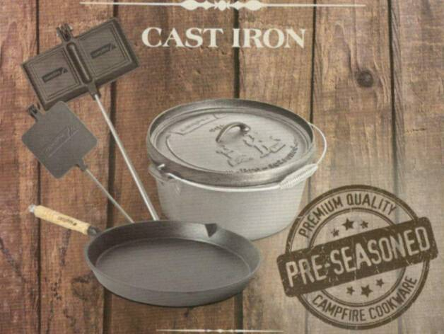 preseasoned cast iron camp cookware Featured Image