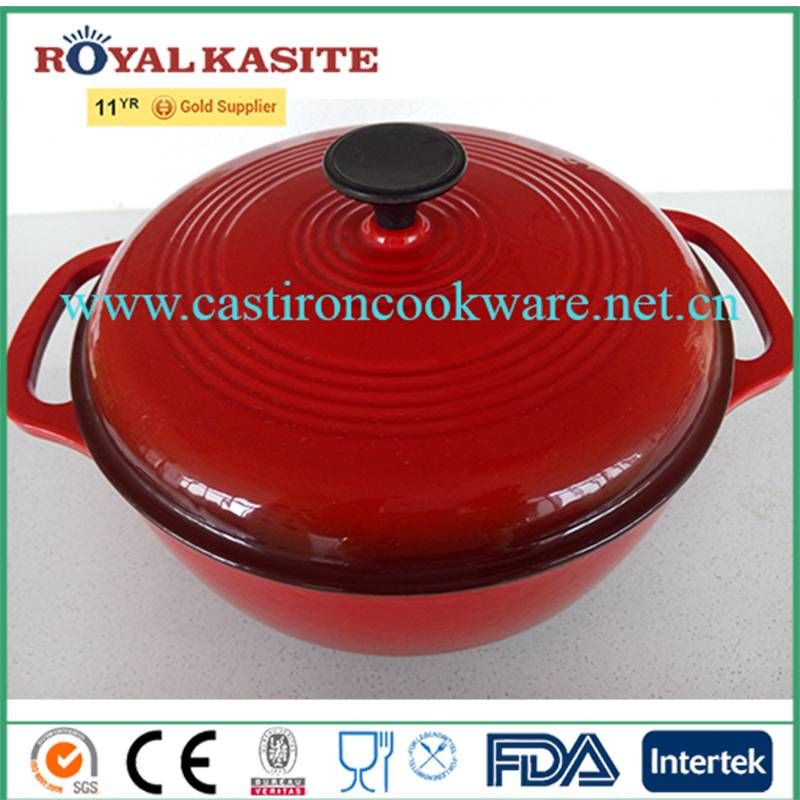 Insulated Food Warmer Casserole Die Cast Iron Cooking Pot