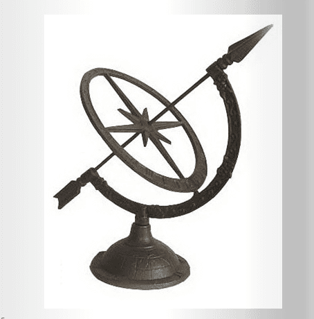 Small Cast Iron Sundial home decoration