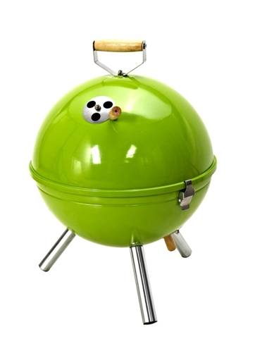 professional bbq grill with green color coating,fresh style