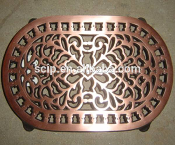 Oval metal trivet Cast iron trivet