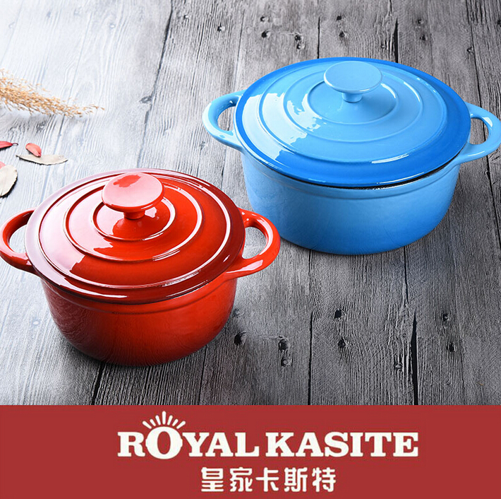 color enamel cast iron casserole