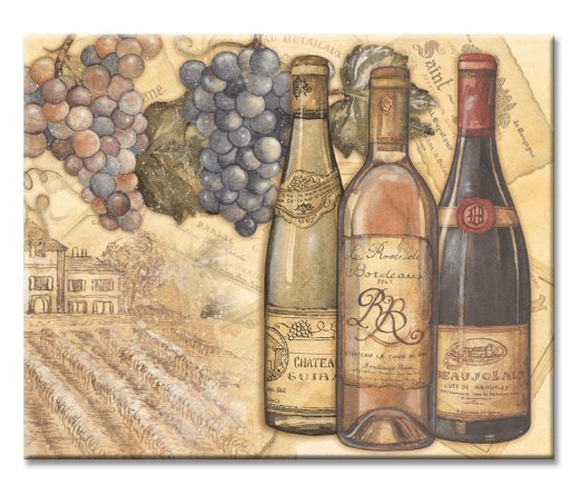 CounterArt Vineyards Glass Cutting Board, 15 x 12 Inches