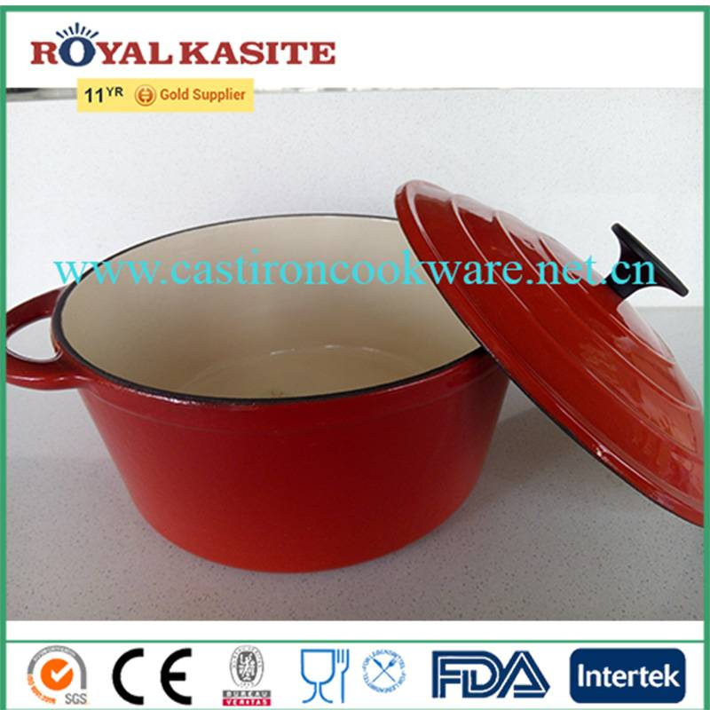 Enamel Coating Cookware Set Mini Cast Iron Potjie Cooking Pot