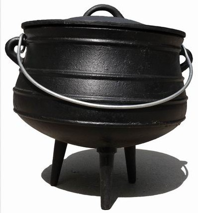 Factory making Round Cast Iron Frying Pan -