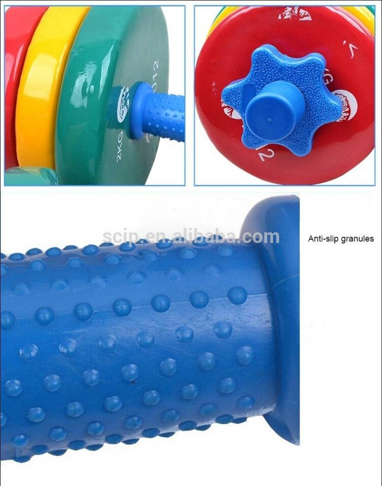 colored vinyl dipping pvc casted iron dumbbell
