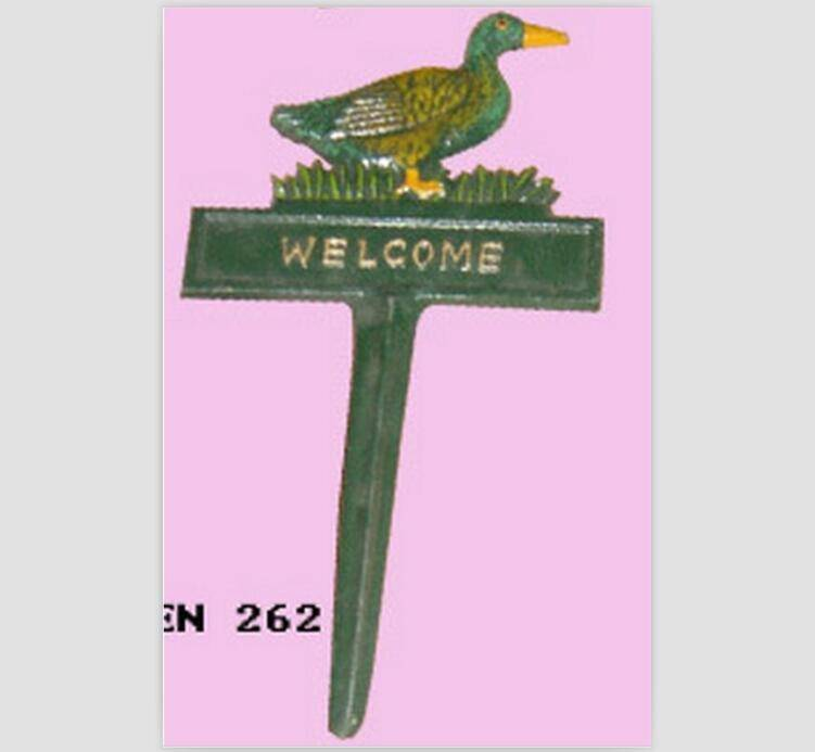 duck Welcome cast iron garden ornaments