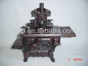 cast iron mini toy stove