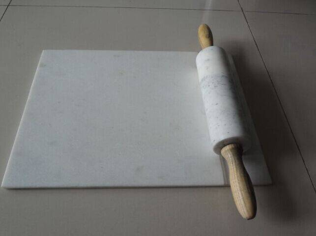 hot sale high quality white marble stone rolling pin