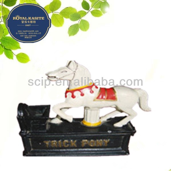 cast iron horse mechanical money bank export to usa