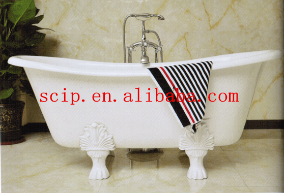 modern color double slipper cast iron bathtubs