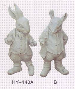 Dr. Rabbit Cast Iron Sculpture