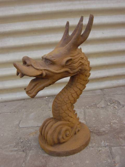 Oriental Dragon Shaped Cast Iron Sculpture Featured Image