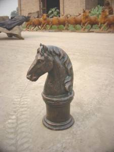 Horse Shaped Cast Iron Sculpture