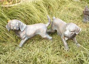 Dog Shapped Cast Iron Sculpture