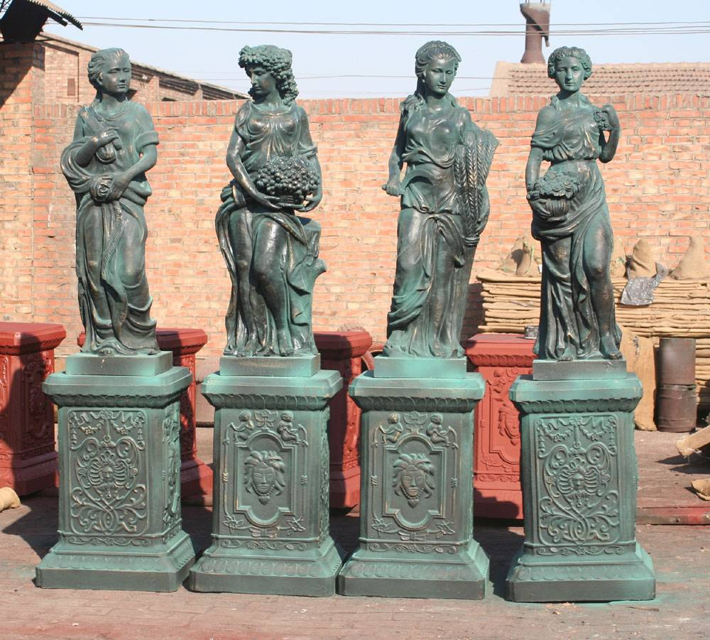 Four Goddess Cast Iron Statue Featured Image
