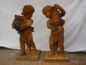 Angels Cast Iron Statue and Sculpture