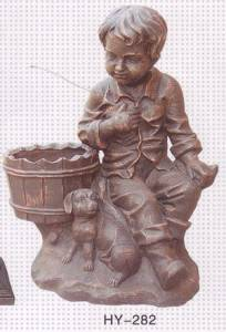 Medicial for Child Cast Iron Sculpture
