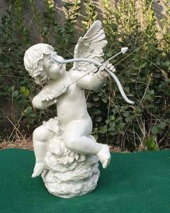 Cupid Cast Iron Sculpture