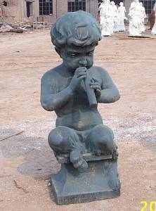 Children Cast Iron Sculpture