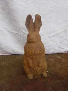Rabbit Cast Iron Sculpture
