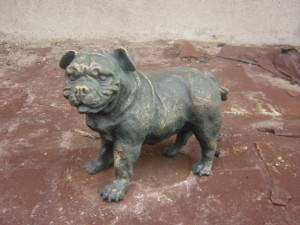 Puppy Cast Iron Sculpture