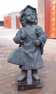 Innocent Children Cast Iron Sculpture