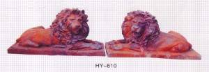 Lion Shaped Cast Iron Sculpture