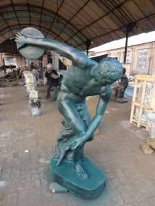 Sports Man Cast Iron Sculpture