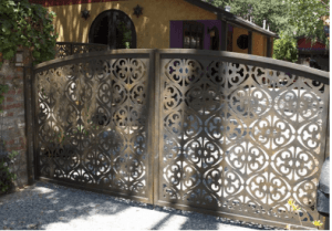 Ornamental Garden Cast Wrought Iron Metal Gate
