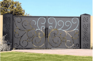 Luxury Garden Metal Gates Wrought Iron Villa Gate