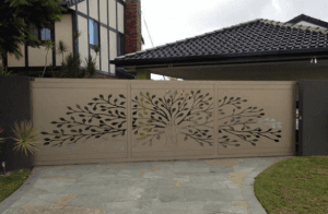 Hot sale golden paint wrought iron gate designs