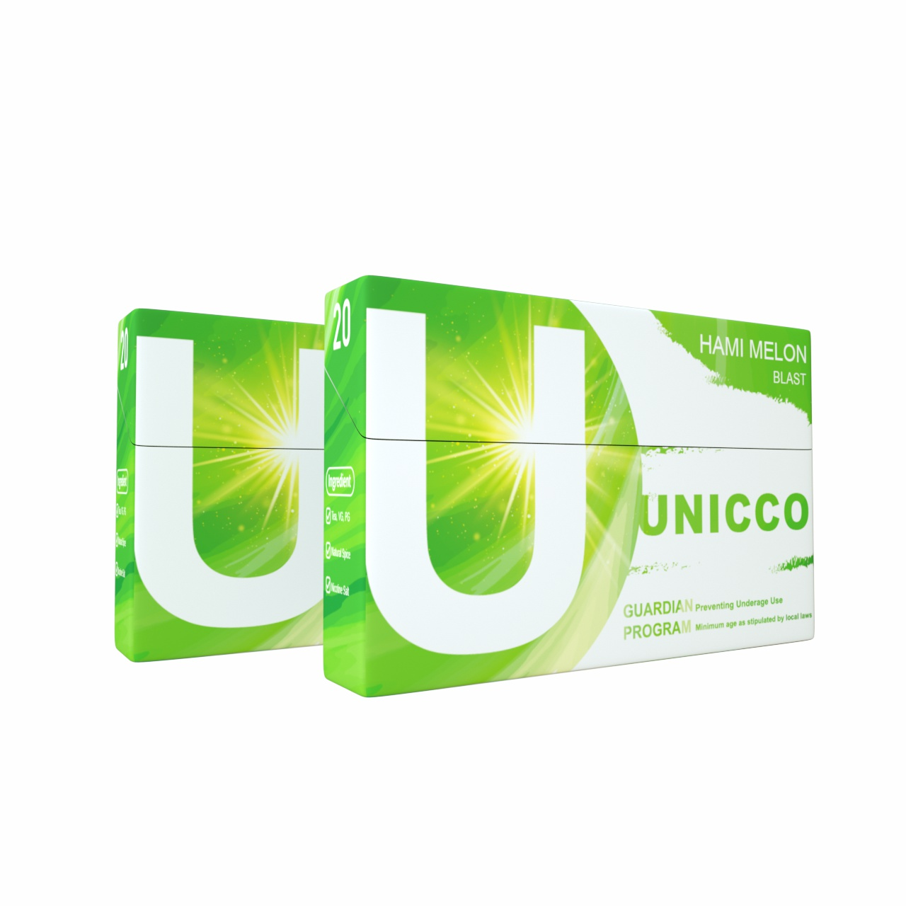 UNICCO-HEAT NO BURNING-HERBAL CIGARETTE-HAMI MELON-WITH CAPSULE