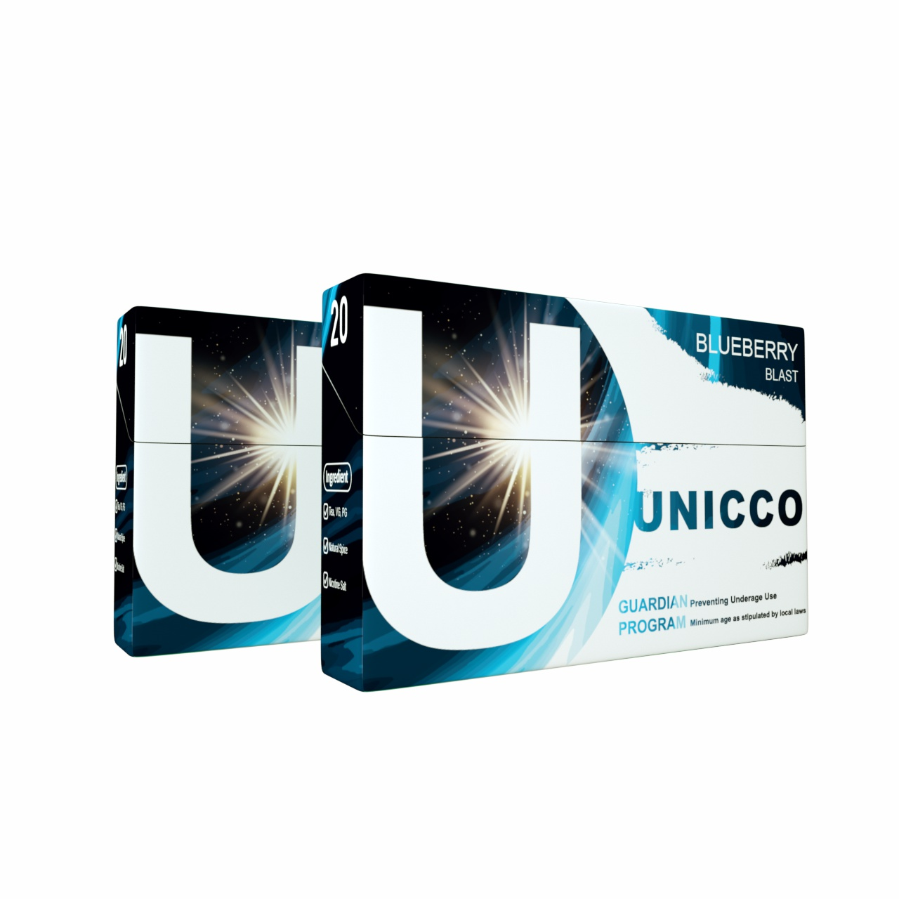UNICCO-HEAT HERBAL STICKS-TOBACCO FREE-WITH NICOTINE-BLUEBERRY