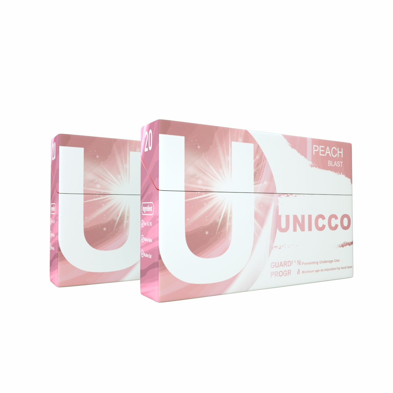 UNICCO-HERBAL HEAT STICKS-CIGARETTE ALTERNATIVE-PEACH-WITH CAPSULE