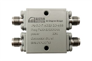 90 Degree 7.4-20.2GHz  Hybrid Coupler JX-BC-7.4G20.2G-15S