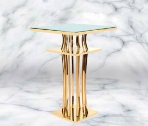 Mirror Glass Bar Table