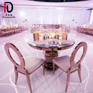 Stainless steel wedding table round