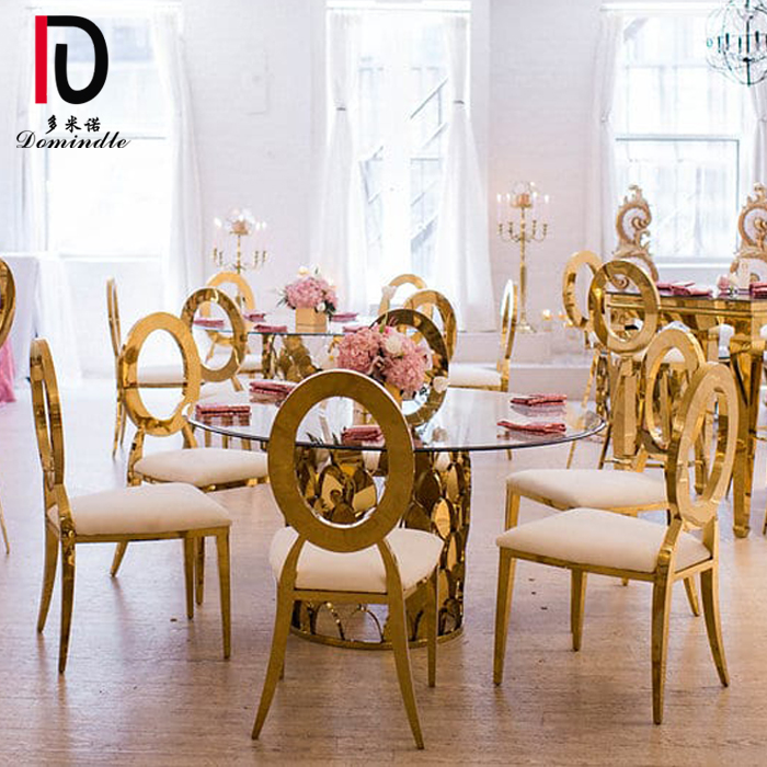 Low price for Dining Wedding Table - Glass top wedding dining table – Dominate