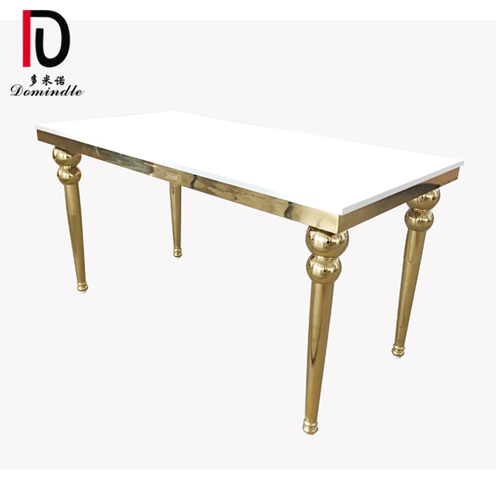 Factory Outlets Modern Stainless Steel Table - Gold stainless steel legs wedding table – Dominate detail pictures