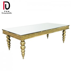 2019 wholesale price Steel Hotel Table - Rectangular table stanless steel for wedding – Dominate