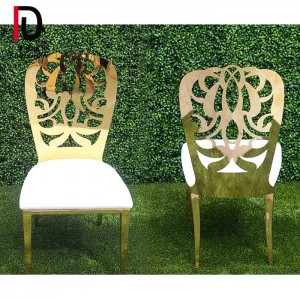 Wholesale Price Gold Metal Circle Wedding Chair - Wedding Dahlia stainless steel dining chair – Dominate