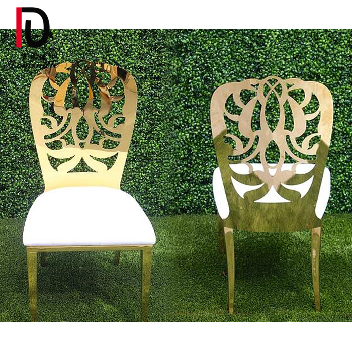 Factory wholesale Gold Stainless Steel Wedding Chair - Wedding Dahlia stainless steel dining chair – Dominate