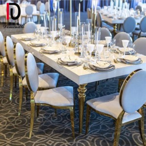 Cheapest Price Luxury Gold Stainless Steel Wedding Dinig Table - Stainless steel MDF top wedding table – Dominate