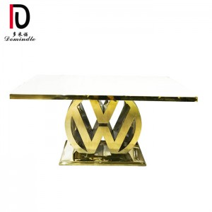 Manufacturer of Gold Stainless Steel Dinig Table - Wedding gold stainless steel table  – Dominate